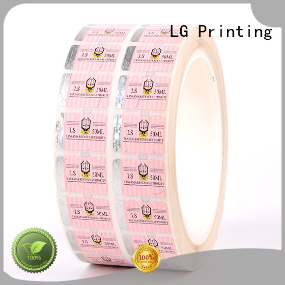 label security labels factory for box LG Printing