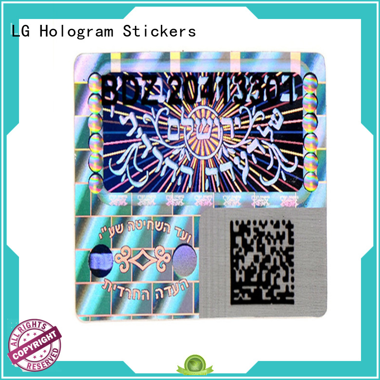 LG Printing colorful double layer label sticker manufacturer for table