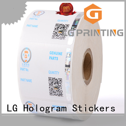 LG Printing stamping hologram stickers for certificates series for box