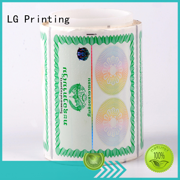 LG Printing printing custom made hologram stickers factory for goods