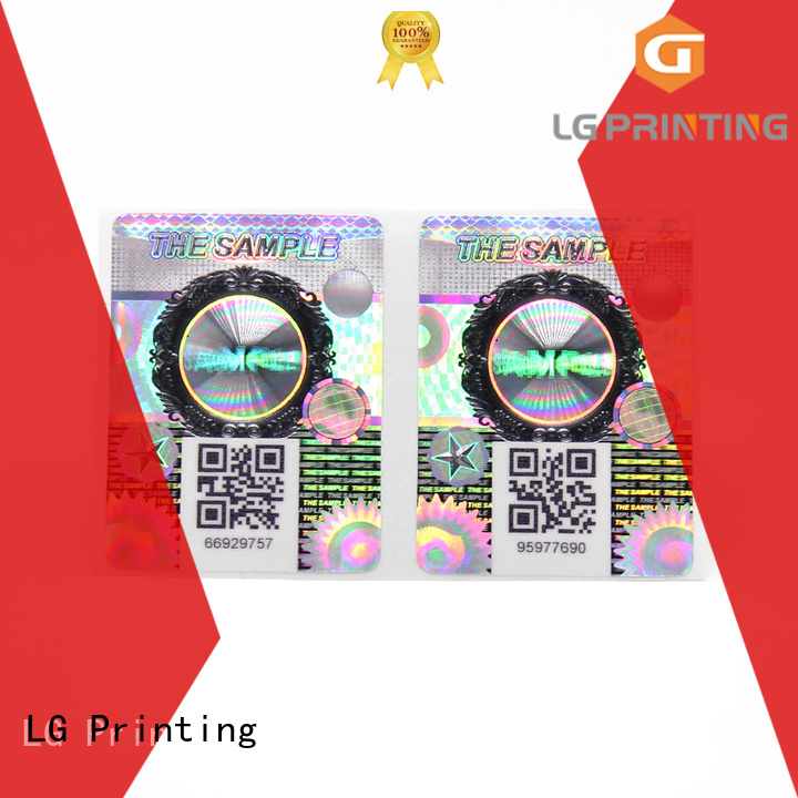 LG Printing Latest vinyl self adhesive labels Suppliers for bag