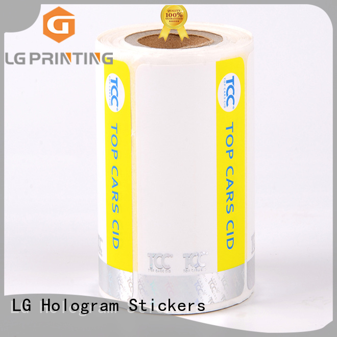 LG Printing positioned custom made hologram stickers manufacturer for box