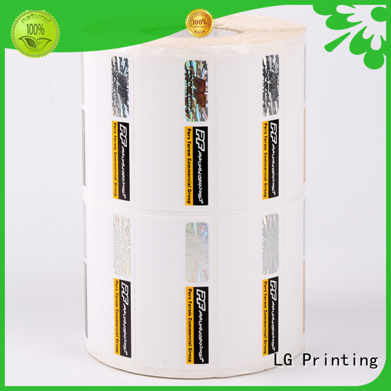 LG Printing paper security stickers supplier for box
