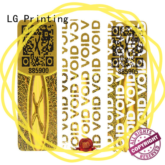 LG Printing golden waterproof qr code stickers series for refrigerator
