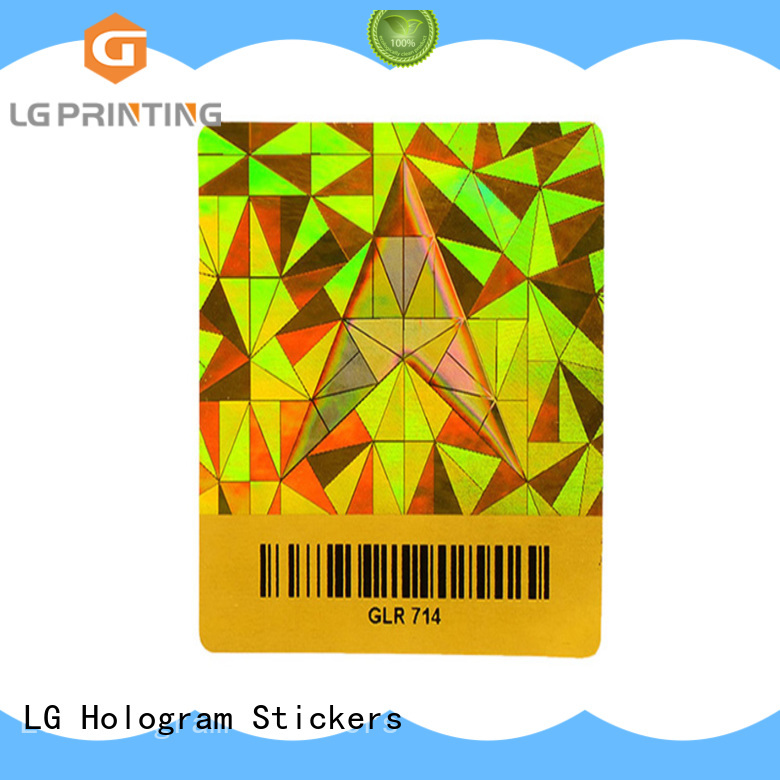LG Printing number wholesale sticker printing label for table