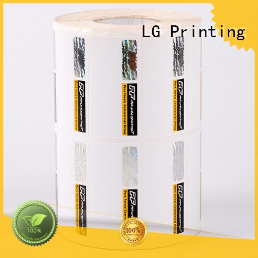 LG Printing serial hologram transparent supplier for bag