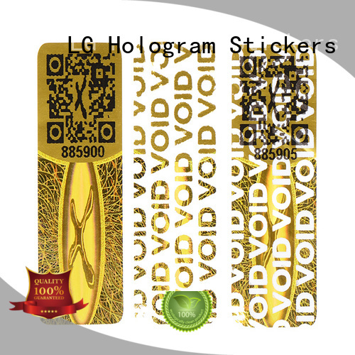 one time warranty void sticker golden for table LG Printing