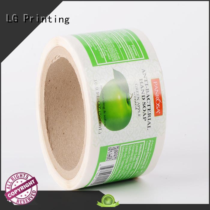 LG Printing foil digital labels manufacturer for bottle