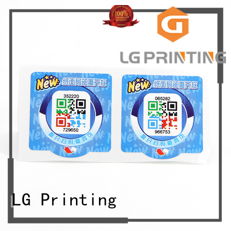 LG Printing hologram seal manufacturers for box