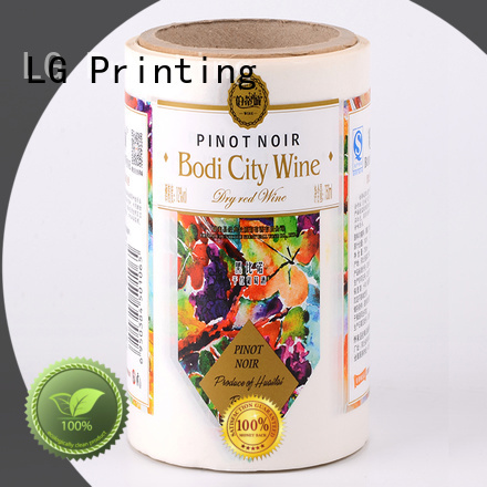 LG Printing quality sticker factory factory for bottle