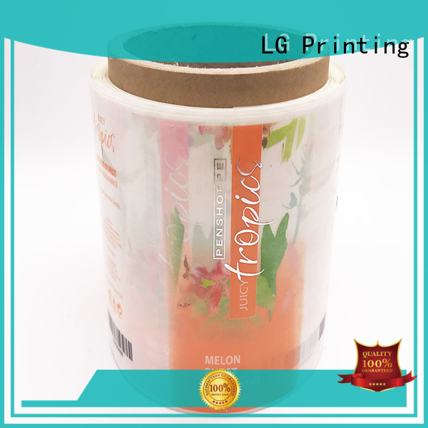Wholesale pvc logo self adhesive label LG Printing Brand sticker