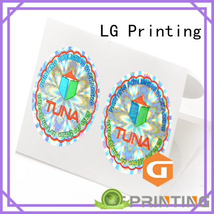 LG Printing colorful sticker business cards label for box