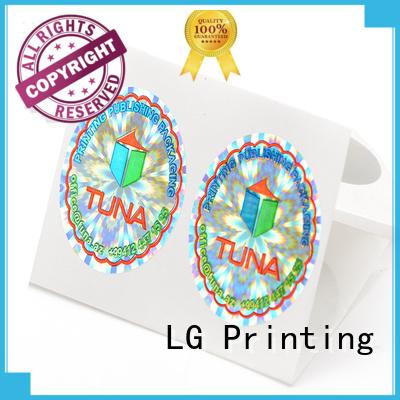 holographic sticker custom barcode for box LG Printing