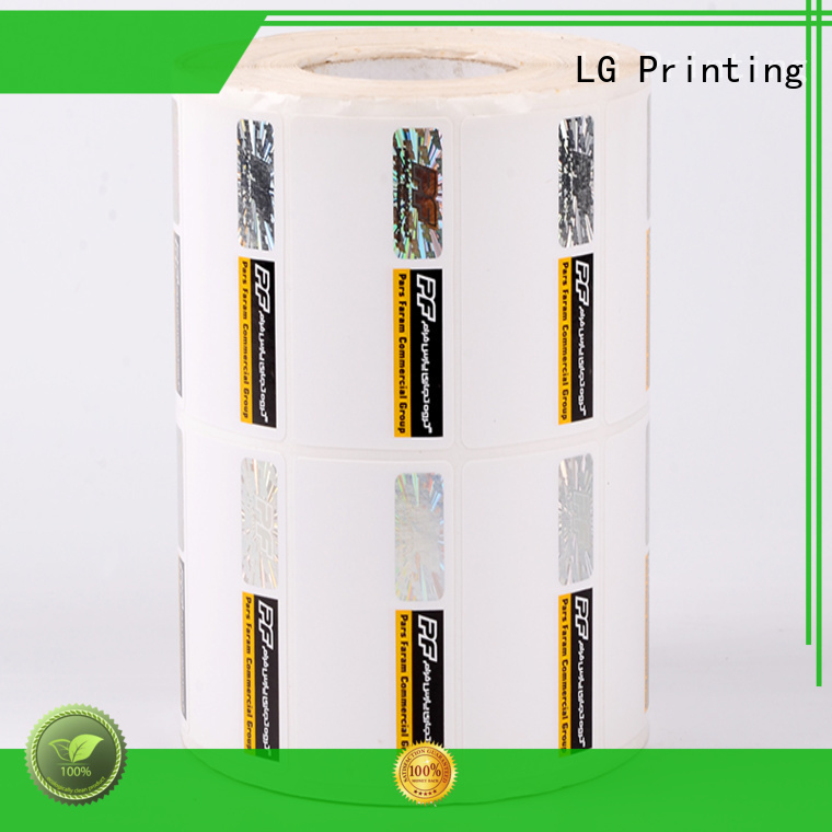 security tamper stickers positioned for goods LG Printing