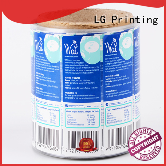 bopp custom product labels supplier for wine bottle LG Printing