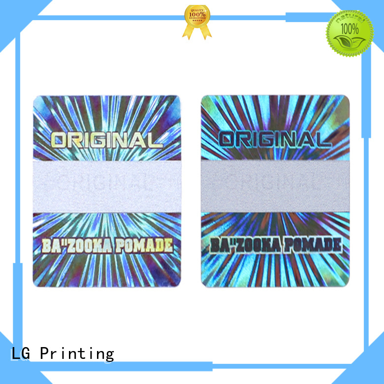 LG Printing silver 3d holographic stickers series for refrigerator