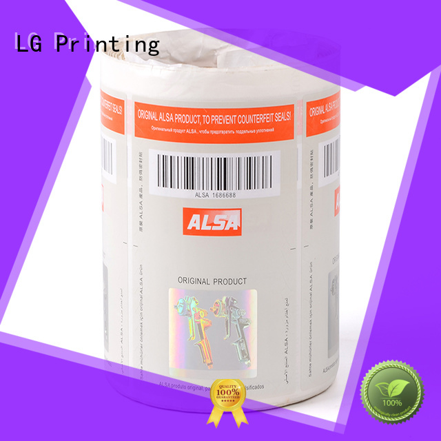 LG Printing sticker sticker hologram manufacturer for products