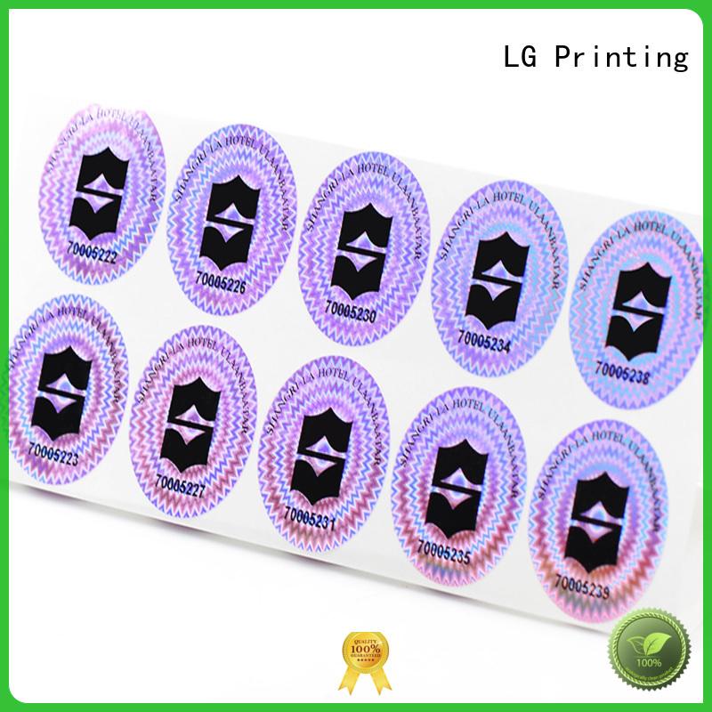 LG Printing Brand triangle qr code hologram sticker manufacture