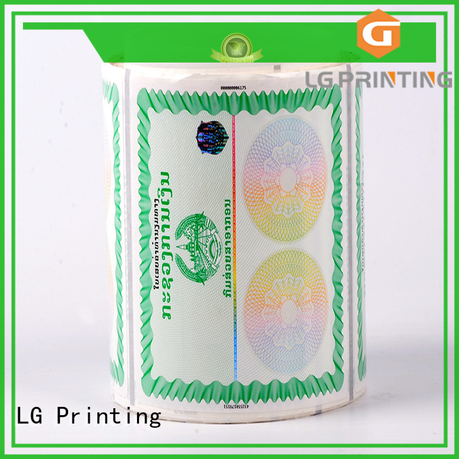 printing holographic card number factory for goods