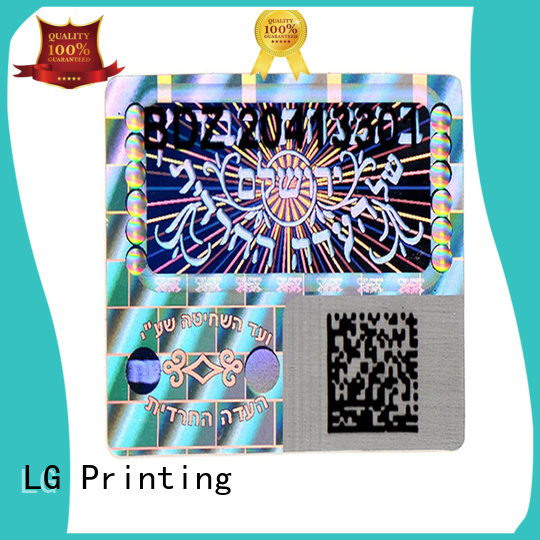 silver hologram stickers custom series for door LG Printing