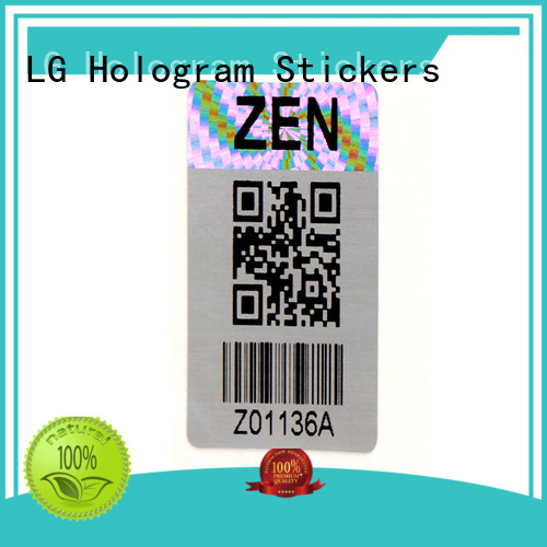 LG Printing colorful holographic foil stickers manufacturer for refrigerator