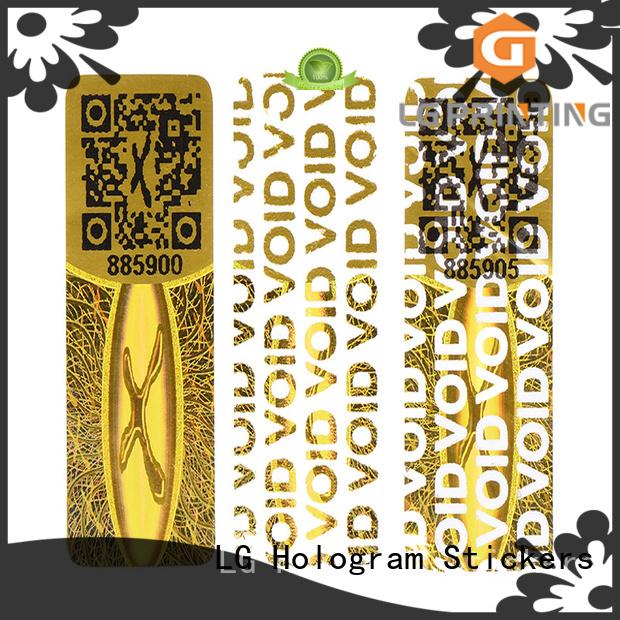 LG Printing golden hologram printing logo for door