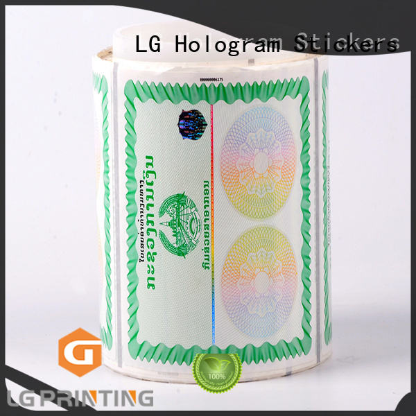 serial security labels stickers series for box LG Printing