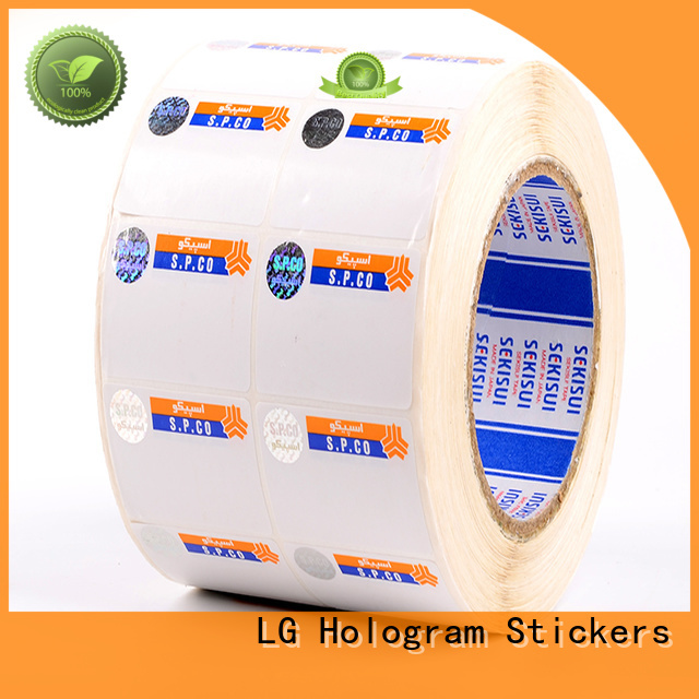 LG Printing counterfeiting buy hologram stickers factory for box