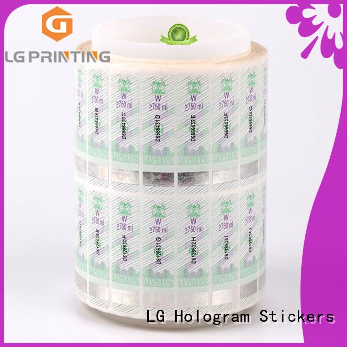 security hologram UV for bag LG Printing
