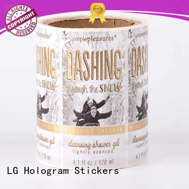 LG Printing printed plastic stickers factory for wine bottle