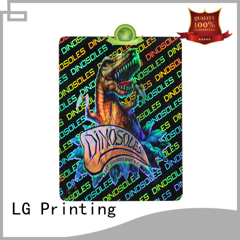 LG Printing barcode foil custom stickers manufacturer for box