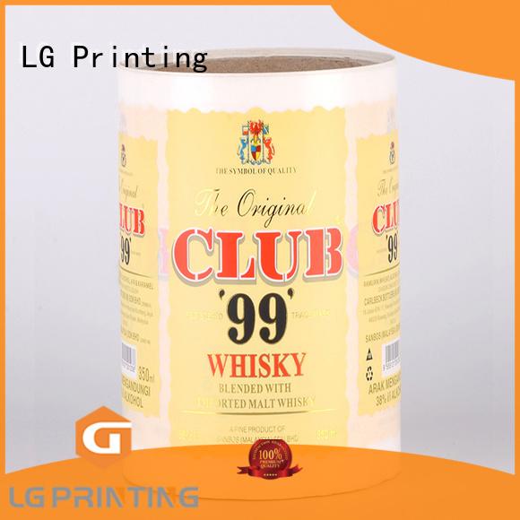 LG Printing glossy custom labels supplier for wine bottle