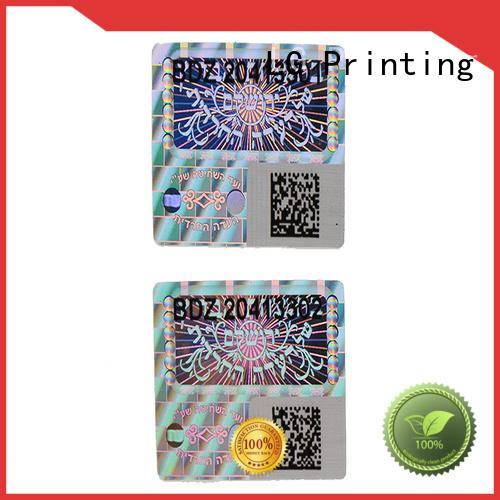 custom shape void qr code 3d hologram sticker LG Printing manufacture