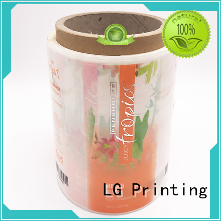 LG Printing Brand stickers glossy bottle custom self adhesive label