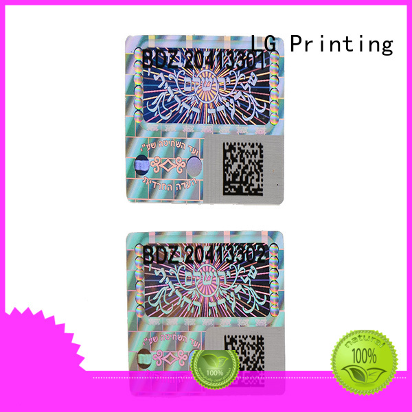 void qr code printing hologram sticker rectangle LG Printing