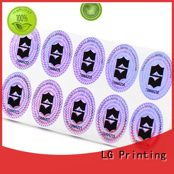 transparent 3d hologram sticker triangle rectangle LG Printing Brand
