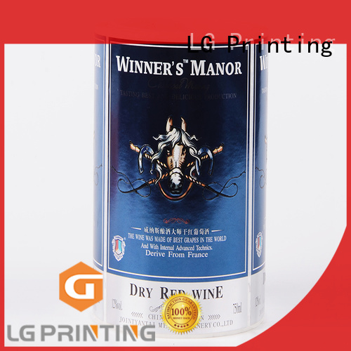 LG Printing glossy custom waterproof labels manufacturer for cans