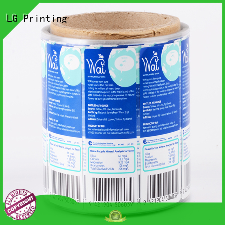 adhesive labels foil for bottle LG Printing
