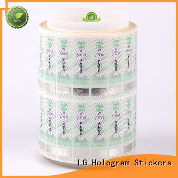LG Printing PVC security system stickers manufacturer for box