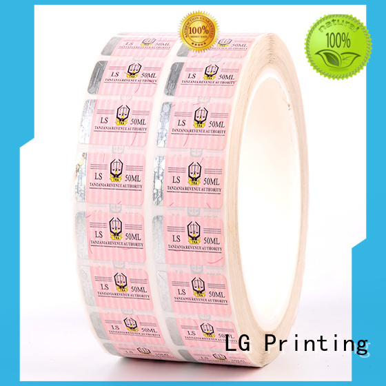 LG Printing serial sticker security manufacturer for box