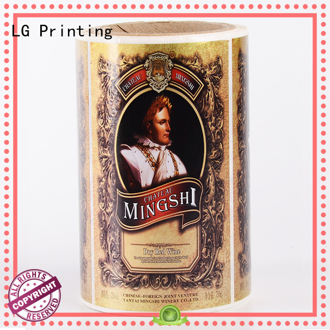 glossy sticker factory supplier for cans