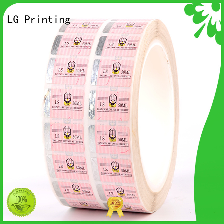 number security tamper stickers paper for products LG Printing