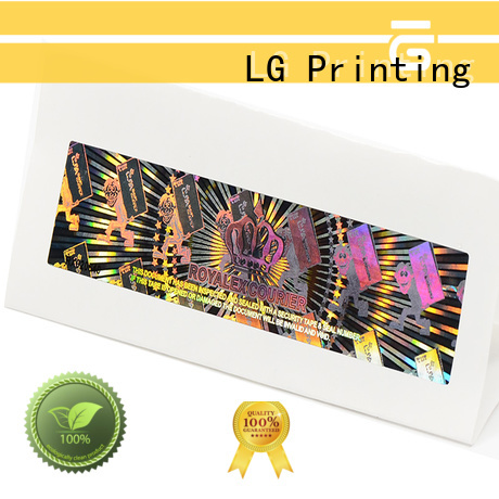 LG Printing scratch off print holographic stickers manufacturer for box
