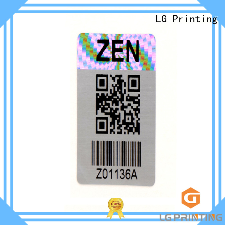 logo hologram stickers label for box LG Printing