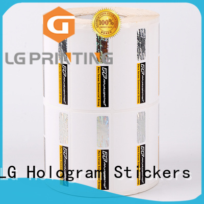 label holographic sticker factory for box LG Printing