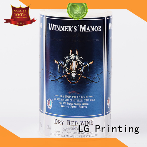 LG Printing gold sticker factory supplier for jars