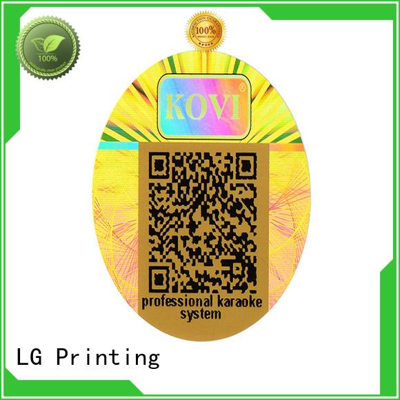 LG Printing numbering hologram stickers online manufacturer for refrigerator