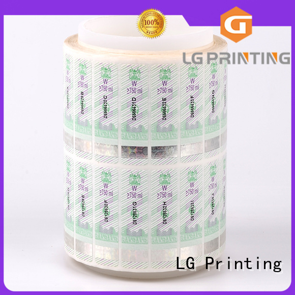 counterfeiting positioned stickers OEM security hologram LG Printing