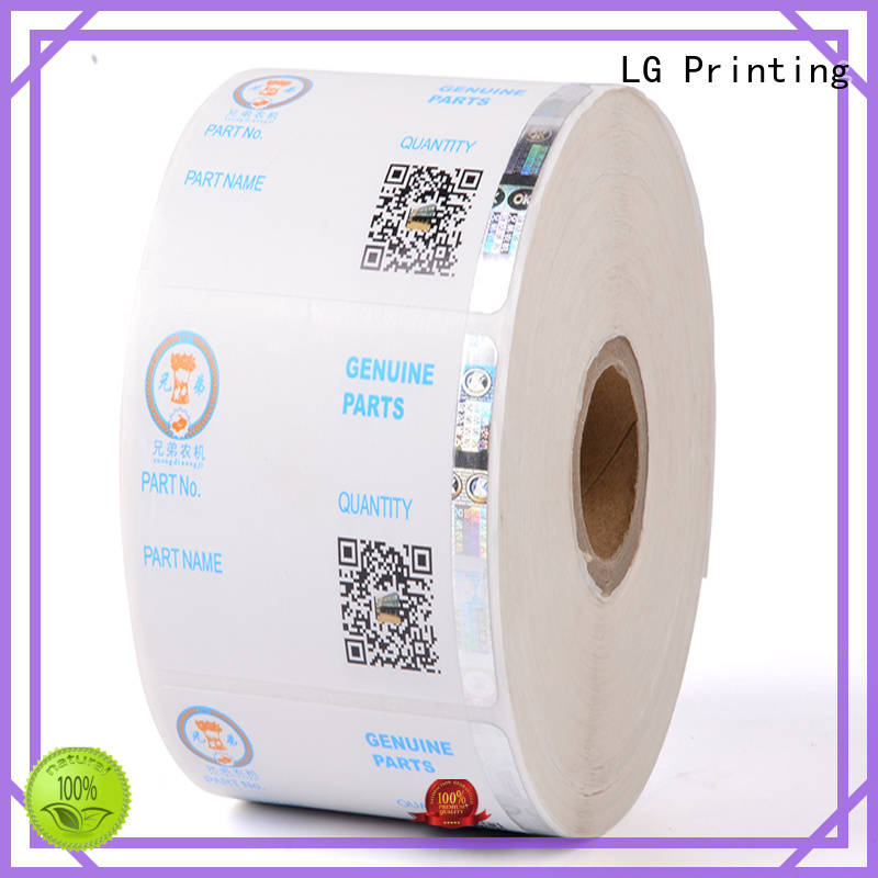 security hologram labels stickers positioned LG Printing Brand company