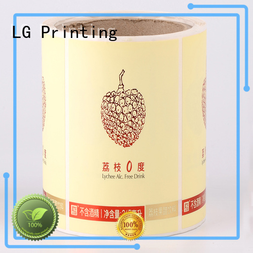 self adhesive label jar red stickers LG Printing Brand company